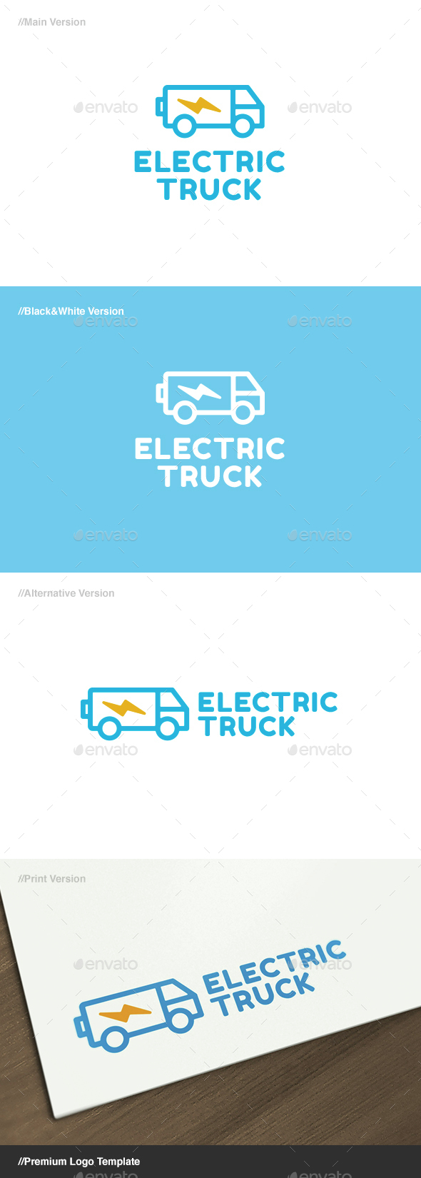 Electric Truck Logo - Objects Logo Templates