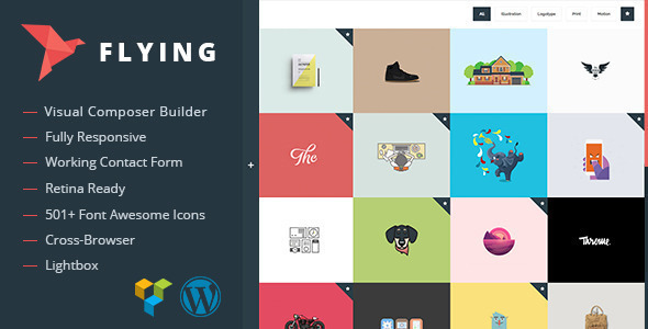 Flying – Interactive Portfolio WordPress Theme