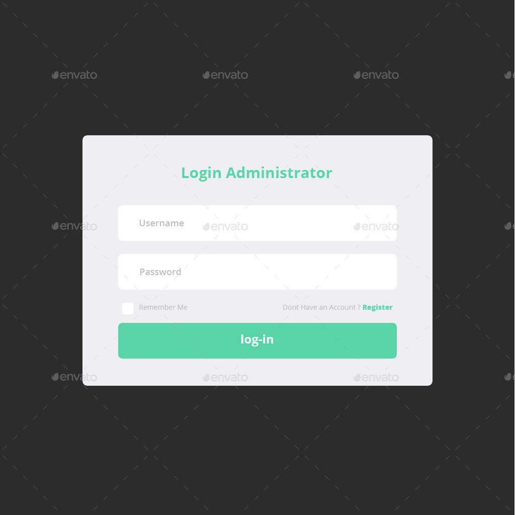 Flat Elegant Login Form Template By Zidesign Graphicriver