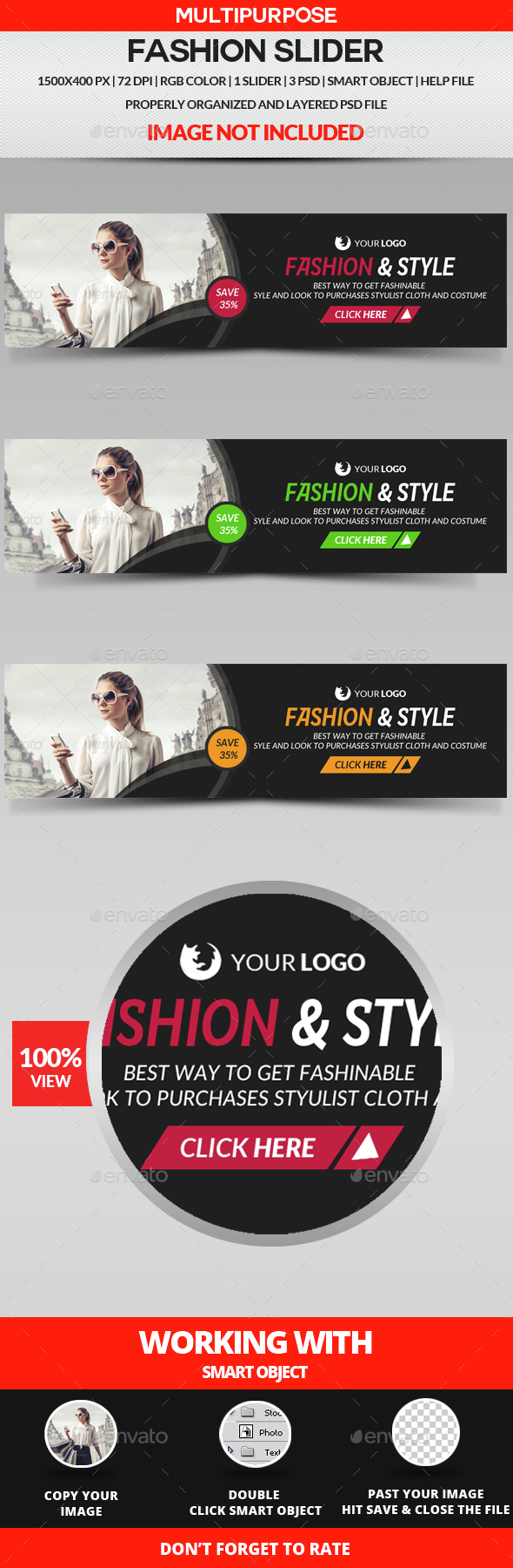 Fashion Slider - Sliders & Features Web Elements