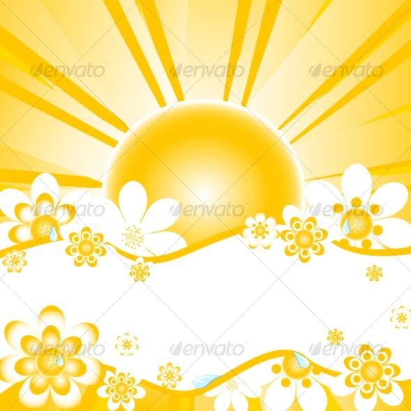 vector illustration of summer background - Nature Conceptual