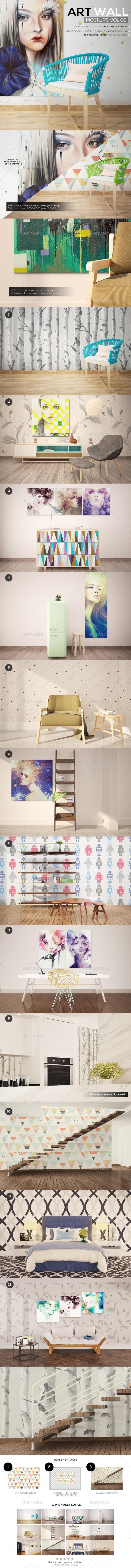 Art Wall Mockups Vol8 - Miscellaneous Print