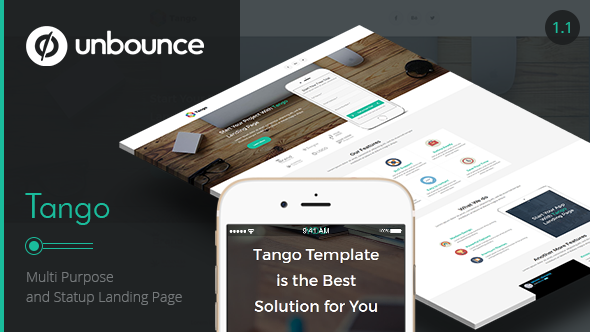Tango Multi-Purpose Unbounce Landing Page