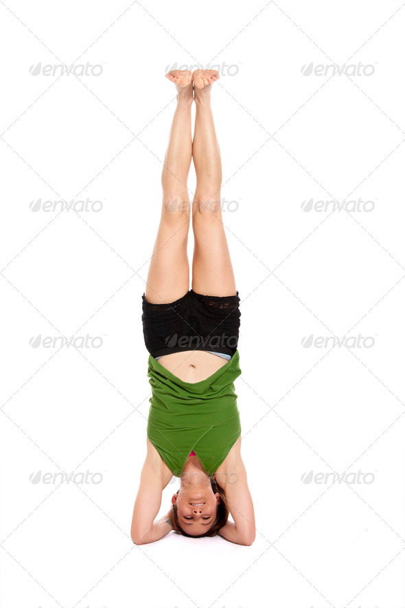 woman doing yoga - Stock Photo - Images