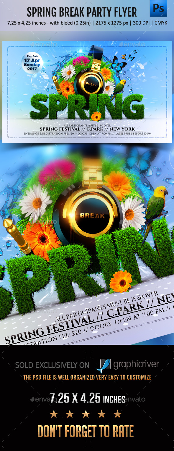 Spring Break Party Flyer - Events Flyers