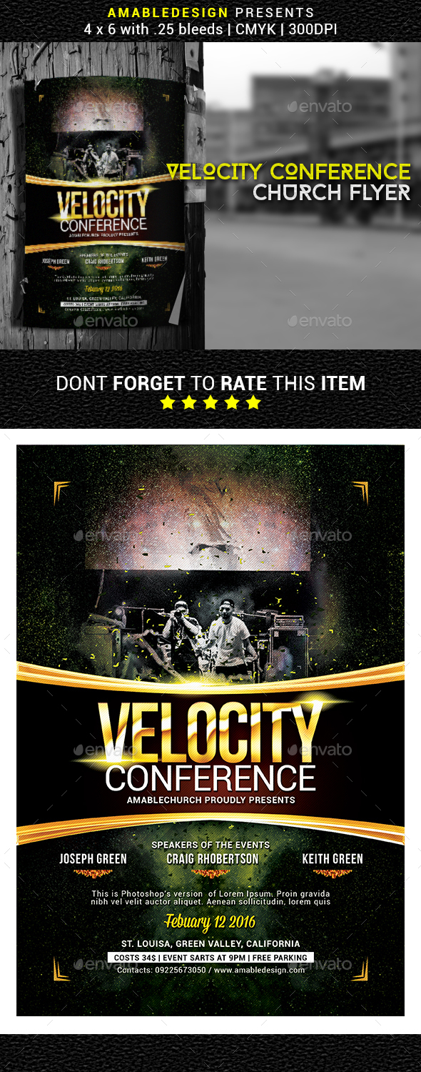 Velocity Conference Church Flyer - Church Flyers