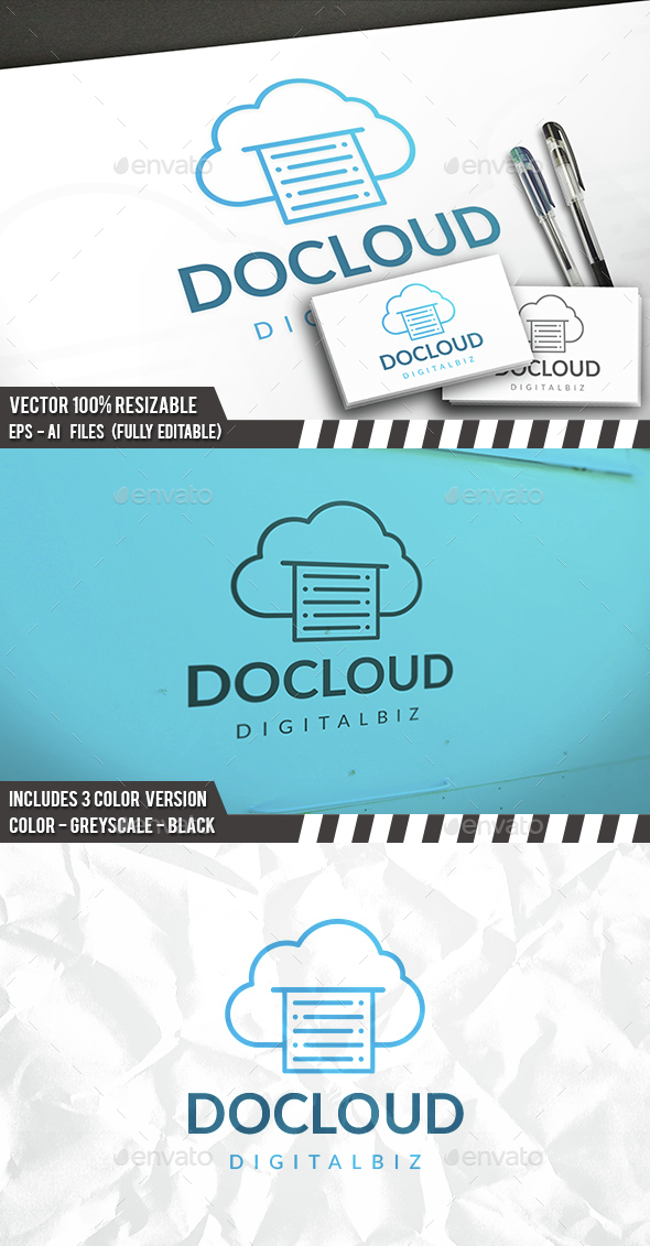 Docs Cloud Logo - Symbols Logo Templates