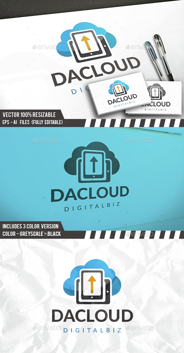 Cloud Phone Logo - Objects Logo Templates