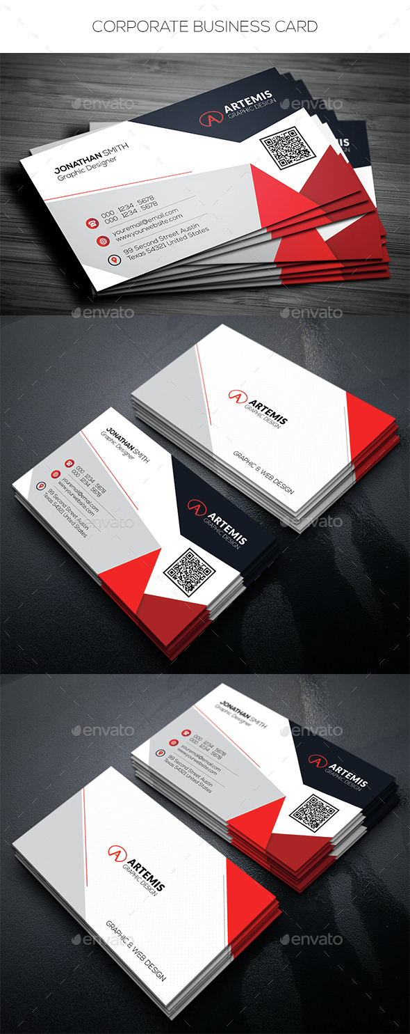 Corporate business card by dkgray graphicriver corporate business card corporate business cards colourmoves