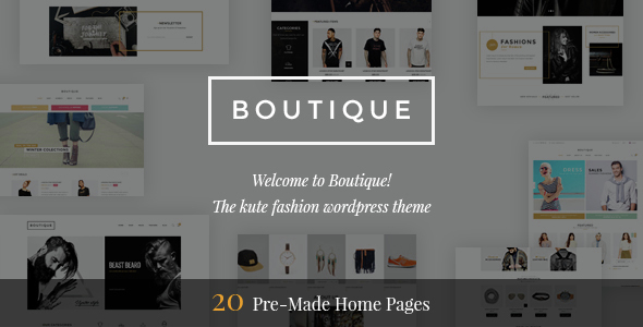 Boutique - Kute Fashion WooCommerce WordPress Theme