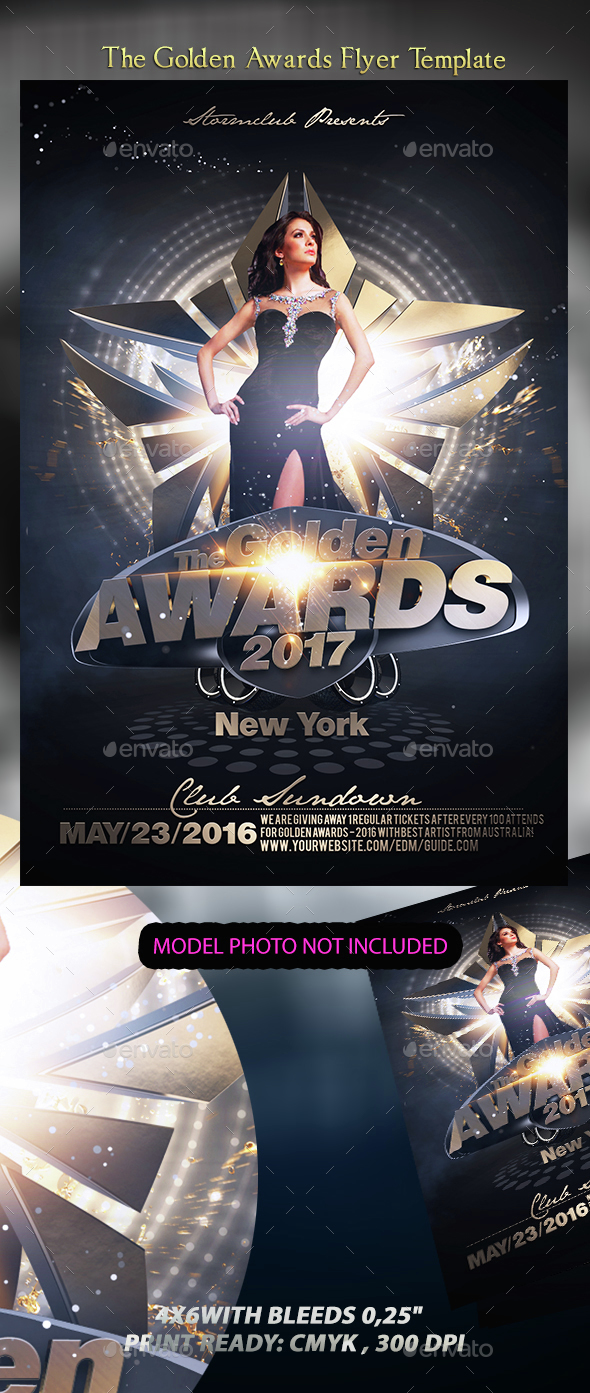 The Golden Awards Flyer Template - Events Flyers