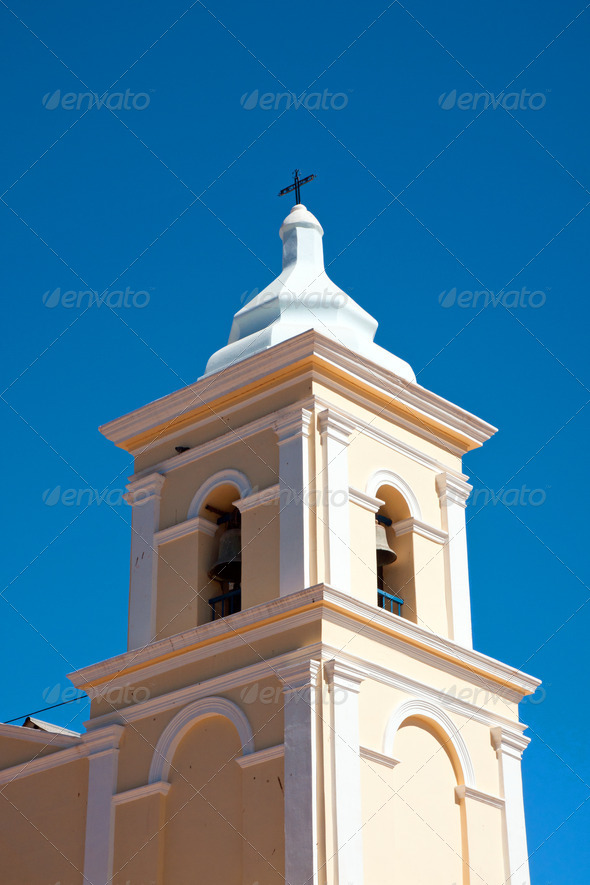 Tower of a rural church - Stock Photo - Images
