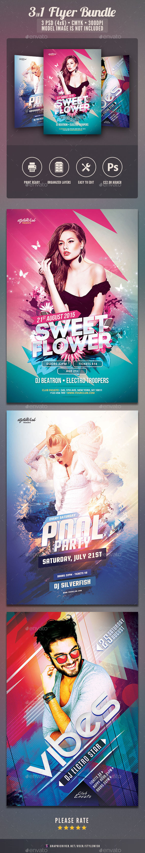 Party Flyer Bundle Vol.25 - Clubs & Parties Events