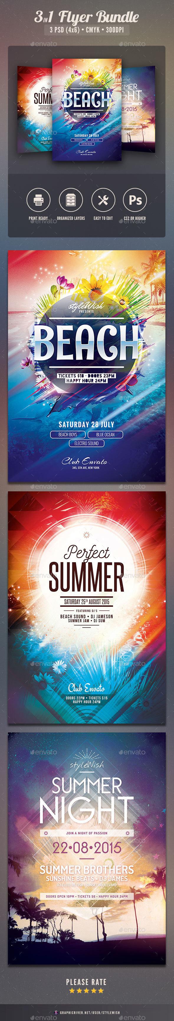Summer Flyer Bundle Vol.10 - Clubs & Parties Events
