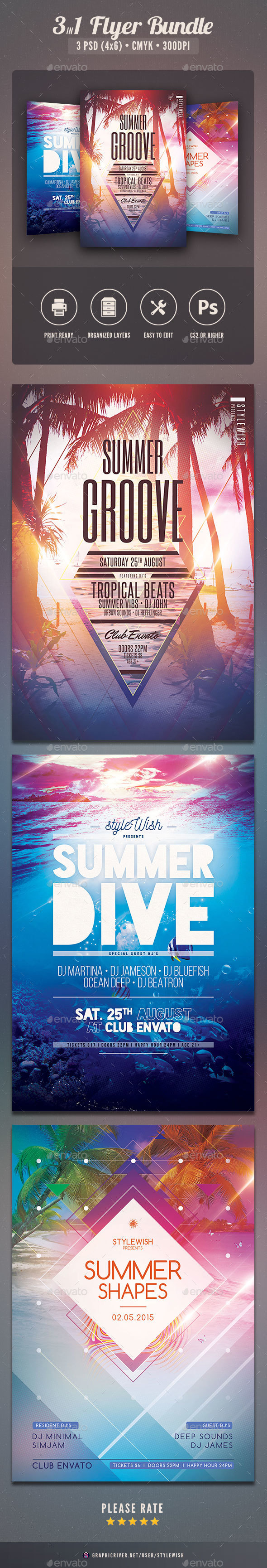 Summer Flyer Bundle Vol.09