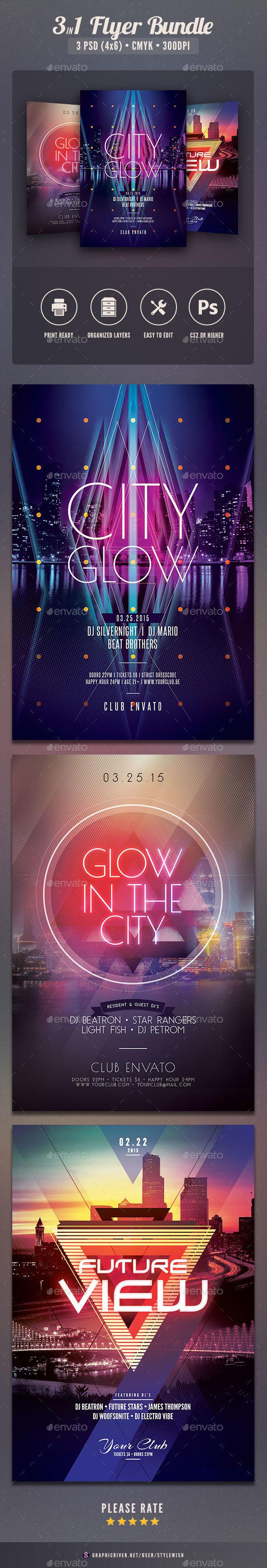 City Flyer Bundle Vol.11 - Clubs & Parties Events