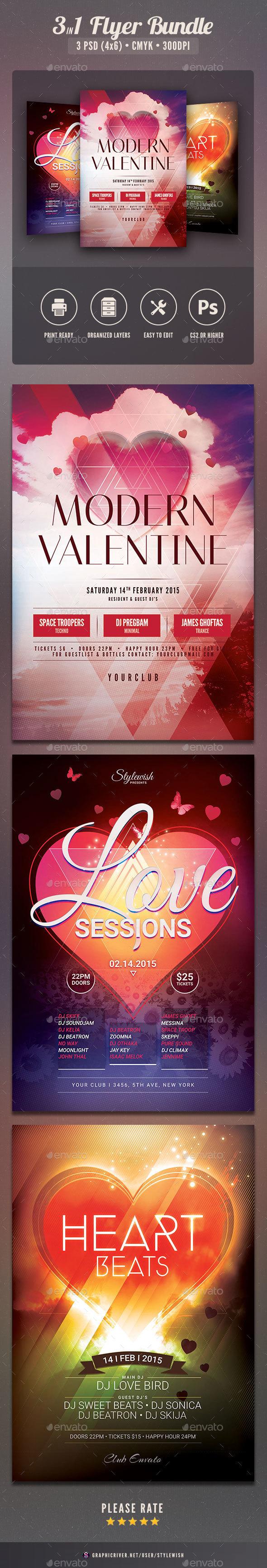 Valentine Flyer Bundle Vol.03 - Clubs & Parties Events