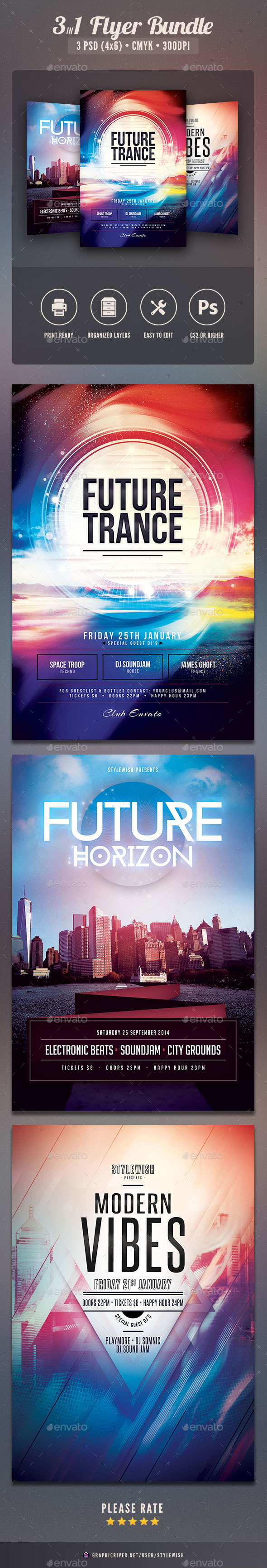 Future Flyer Bundle Vol.04 - Clubs & Parties Events