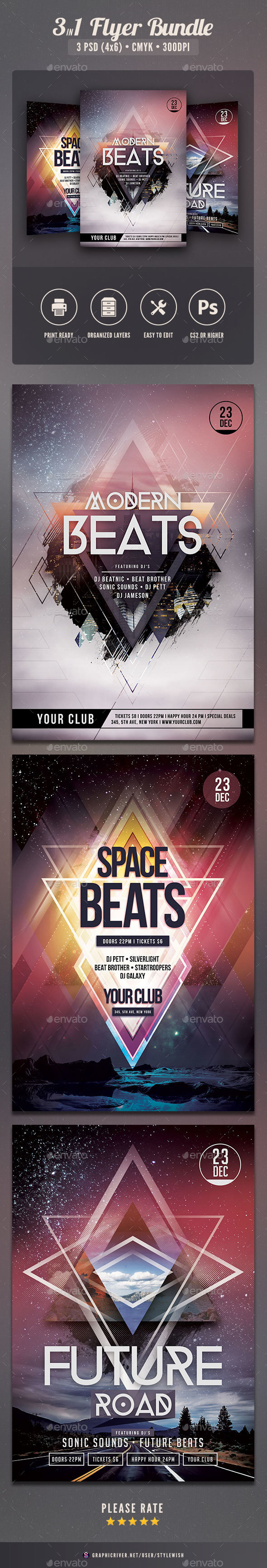 Modern Flyer Bundle Vol.02 - Clubs & Parties Events