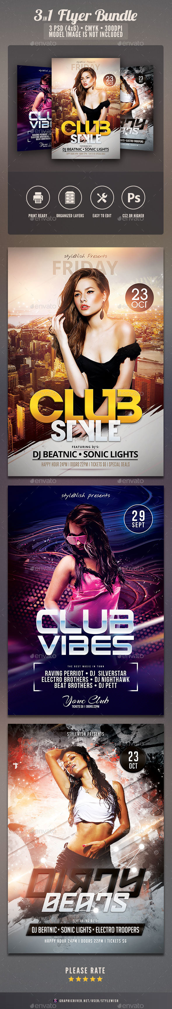 Sexy Party Flyer Bundle Vol.03 - Clubs & Parties Events