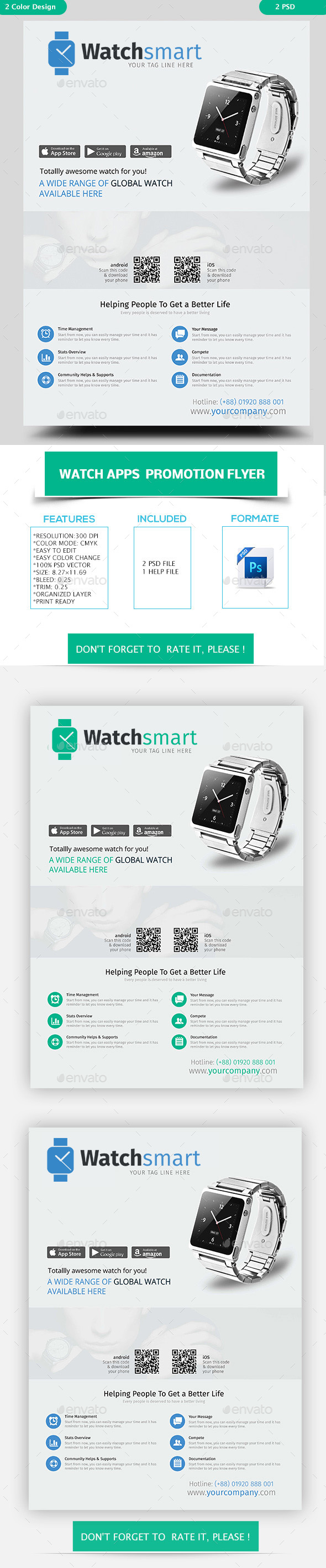 Watch Apps  Promotion Flyer - Flyers Print Templates