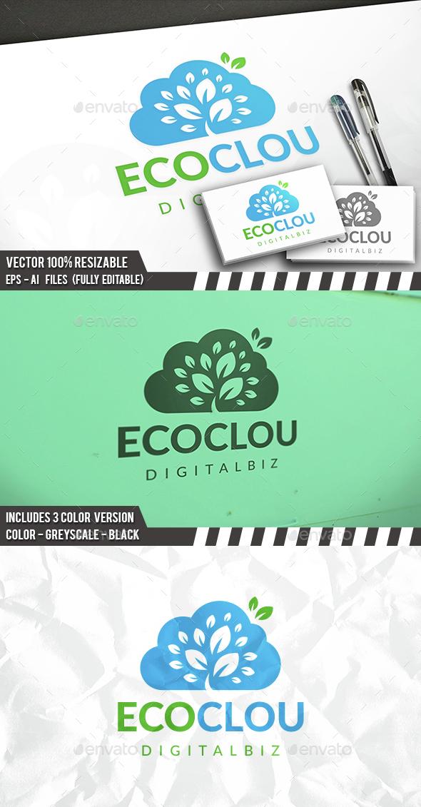 Eco Cloud Logo - Nature Logo Templates