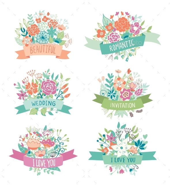 Wedding Vintage Elements Collection - Flowers & Plants Nature