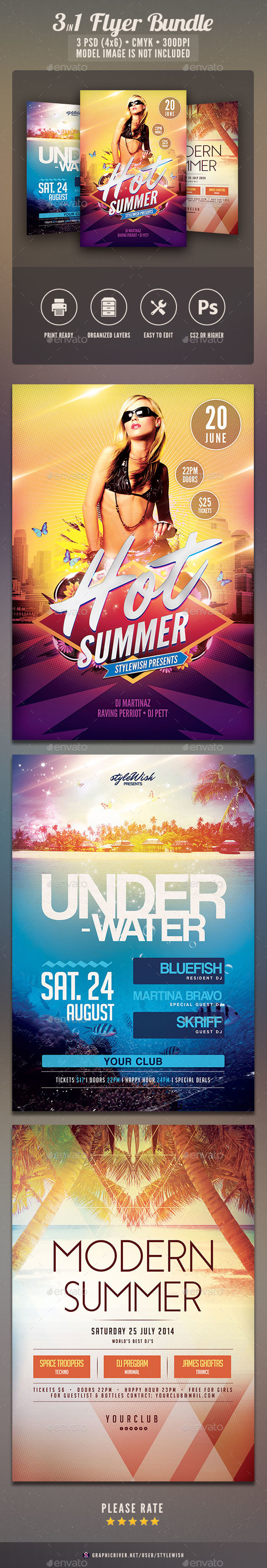 Summer Flyer Bundle Vol.07