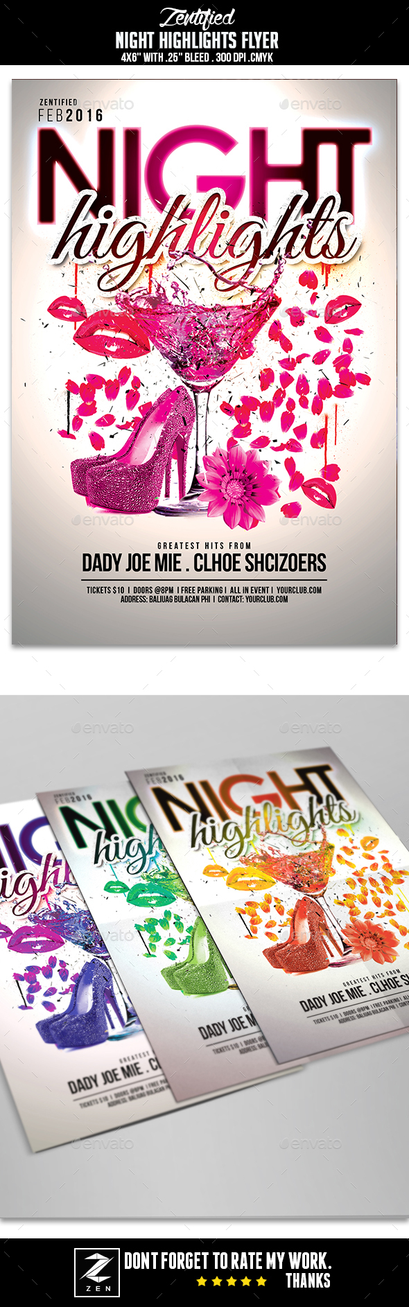 Night Highlights Flyer - Clubs & Parties Events