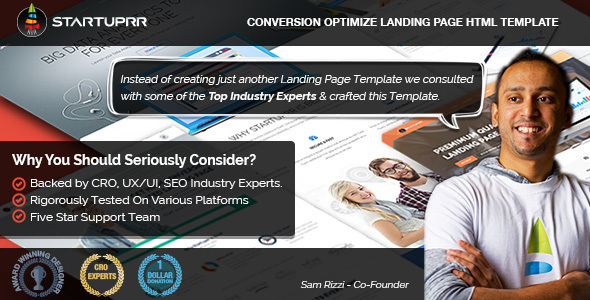 Startuprr – Conversion Optimize Landing Page Template with Page Builder