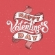 Happy Valentines Day Vintage Poster - GraphicRiver Item for Sale