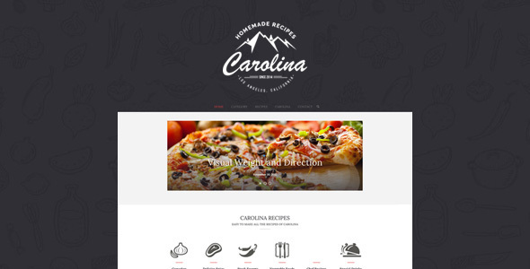 Carolina – Homemade Recipes WordPress Theme