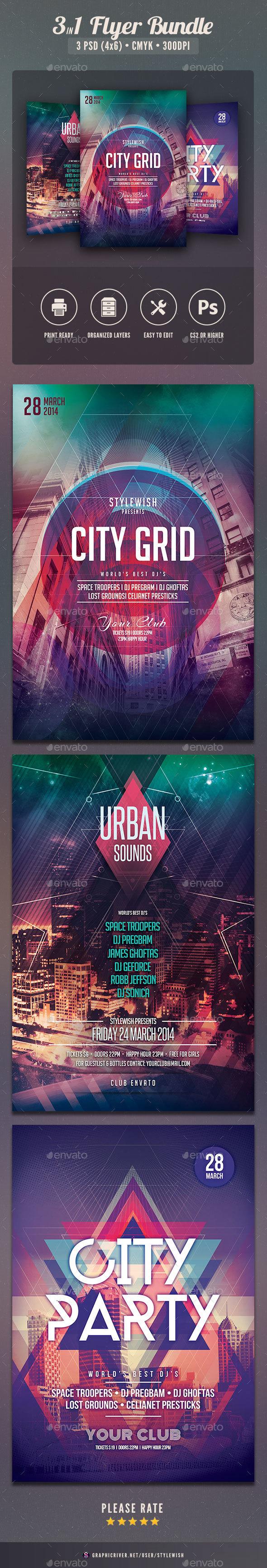 City Party Flyer Bundle Vol.03 - Clubs & Parties Events