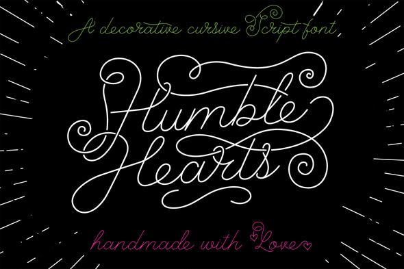 Humble Hearts Script Font - Hand-writing Script