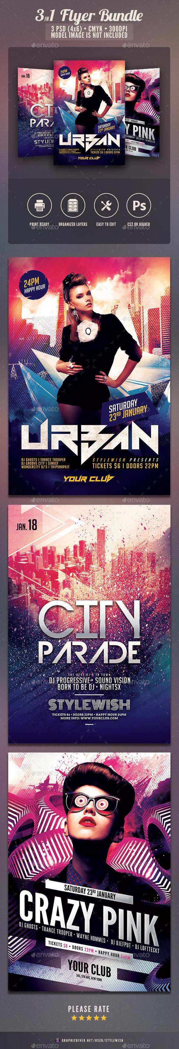 Party Flyer Bundle Vol.14 - Clubs & Parties Events