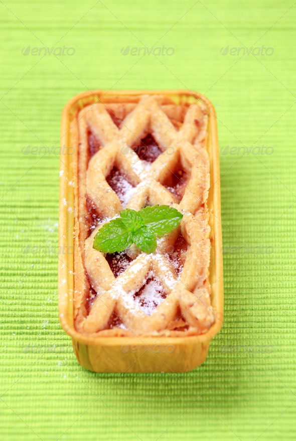 Mini dessert tart - Stock Photo - Images