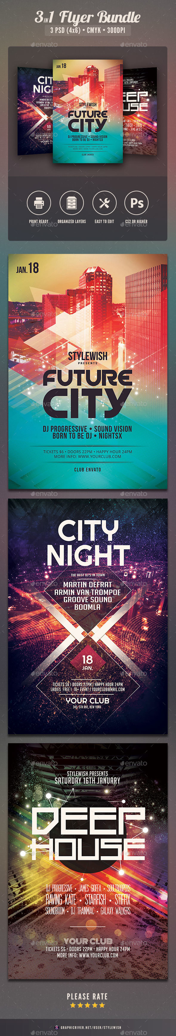 Party Flyer Bundle Vol12 - Clubs & Parties Events