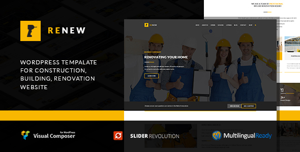 Renew - Renovation, Repair & Construction WordPress Theme