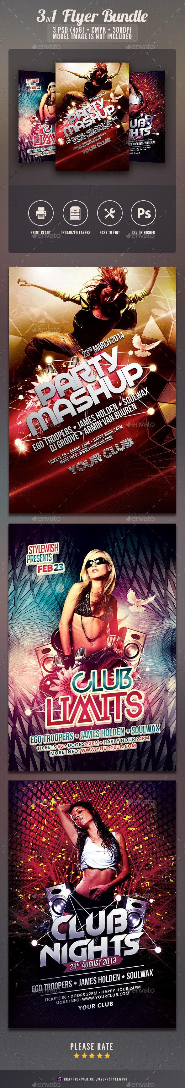 Party Flyer Bundle Vol10 - Clubs & Parties Events