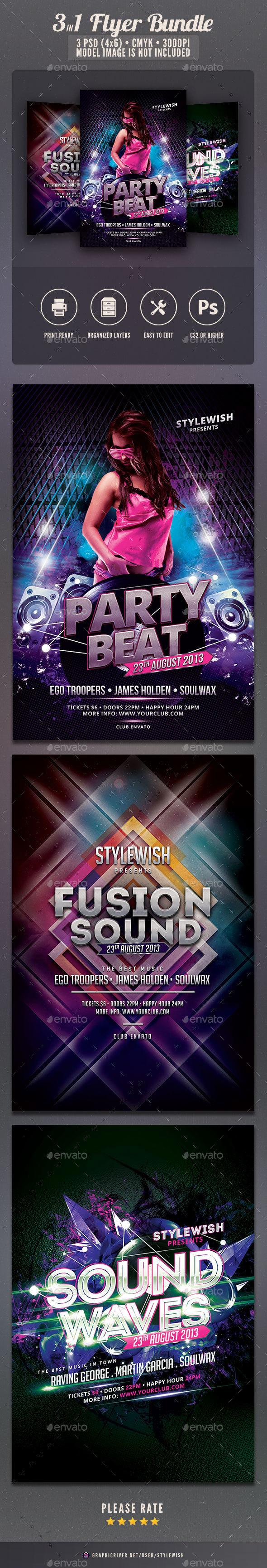 Party Flyer Bundle Vol9 - Clubs & Parties Events