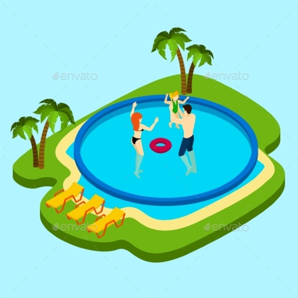 Swimming Pool Illustration  - Sports/Activity Conceptual