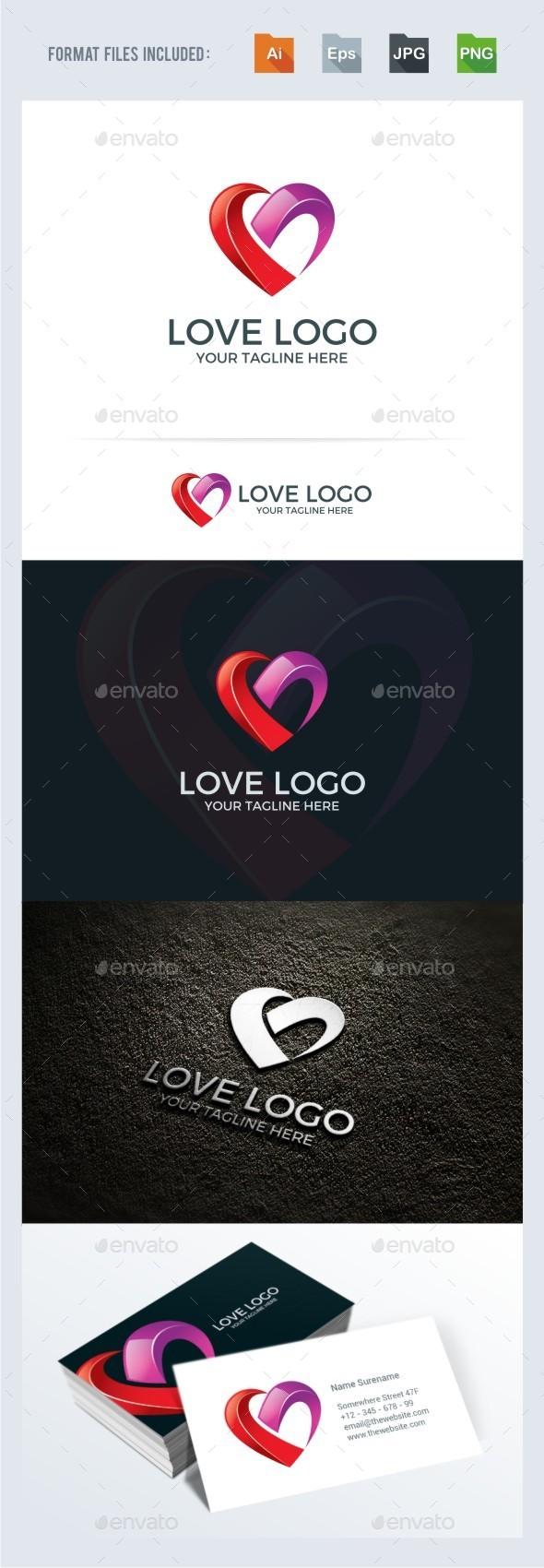 Love / Heart Logo Template - Symbols Logo Templates