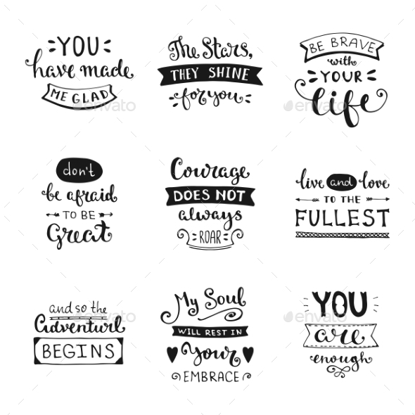 Hand Drawn Lettering Collection - Valentines Seasons/Holidays