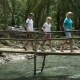 Family Walking on Bridge in Mountain Forest - VideoHive Item for Sale