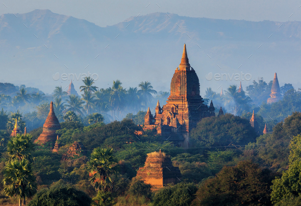 The Temples of Bagan, Myanmar - Stock Photo - Images