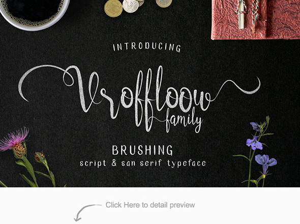 Vroffloow family Typeface - Hand-writing Script