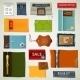 Textile Labels Set - GraphicRiver Item for Sale