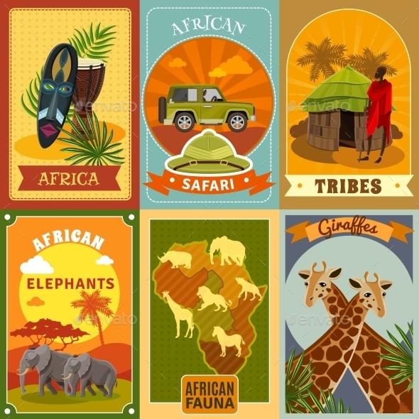 Safari Posters Set - Travel Conceptual