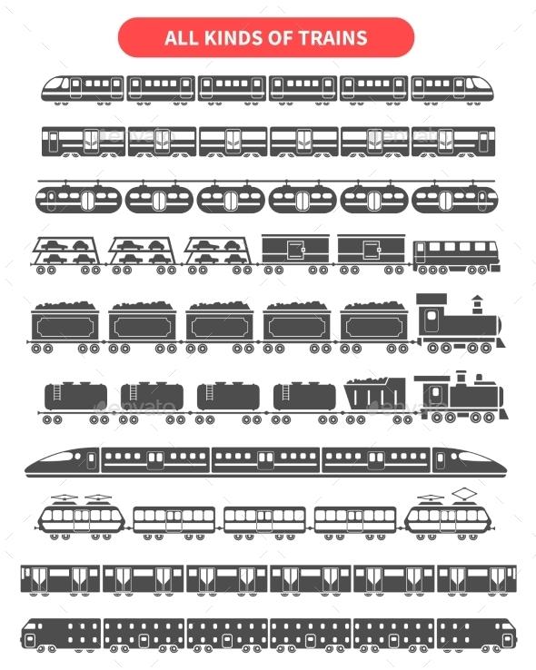 Train Black Set - Travel Conceptual