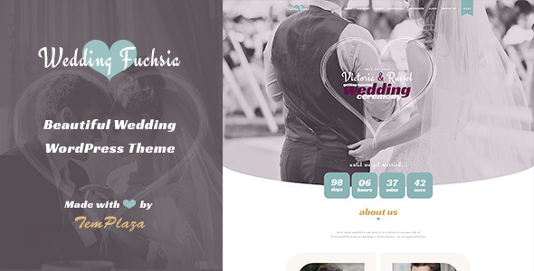 Wedding Fuchsia – WordPress Wedding Theme